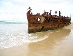 Maheno shipwreck on Fraser Island, Australia
