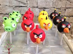 Angry Birds Cake Pops - Cake by Blossom Dream Cakes - Angela Morris