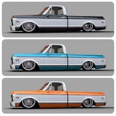 Bagged Trucks, Lowered Trucks, C10 Trucks, Mini Trucks, Chevrolet Trucks, 67 72 Chevy Truck, Classic Chevy Trucks, American Muscle Cars, F100