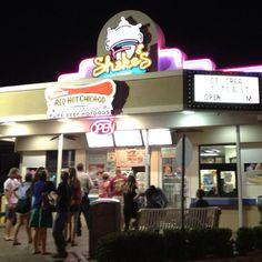Shakes frozen custard in Destin, Florida.