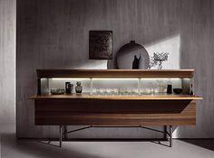 Grand Buffet - IT - Acerbis Arredamento e Design Bar Furniture, Online Furniture, Luxury Furniture, Furniture Design, Wood Buffet, Sideboard Buffet, Interior Decorating, Interior Design, Cabinet Design