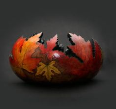 Autumn Gallery - Bev's Hand Crafted Gourds