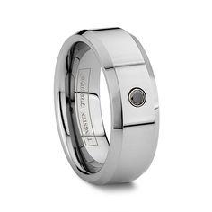 Tungsten Wedding Bands OFF) Men's Tungsten Carbide Wedding Rings Black Tungsten Rings, Tungsten Carbide Wedding Bands, Love Ring, Ring Verlobung, Diamond Wedding Bands, Diamond Rings, Black Diamond, Wedding Ideas, Wedding Stuff