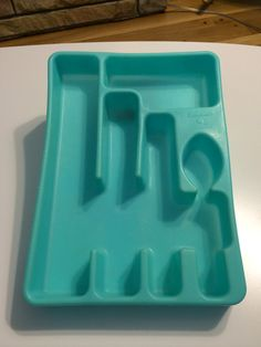 Vintage Rubbermaid Flatware Organizer // by ModernaireMCMStudios, $9.95 Wow to the Color!