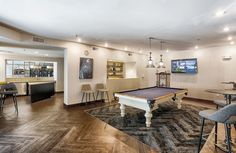 Come relax or play a game of pool with your fellow residents in our clubhouse! Atlanta Georgia, Luxury Apartments, Relax, Game, Projects, Furniture, Home Decor, Log Projects, Homemade Home Decor