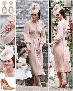 "- Catherine Duchess Of Cambridge (@katemidleton) on Instagram: ""The Duchess of Cambridge wore a bespoke dusty pink Alexander McQueen dress to Pippa's wedding…"""
