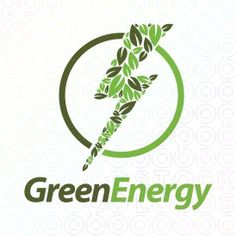 Exclusive Customizable Power Electric Logo For Sale: Green Energy | StockLogos.com