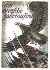 German Empire WW II, political postcard,'The German millennium!', 1940 - scarce