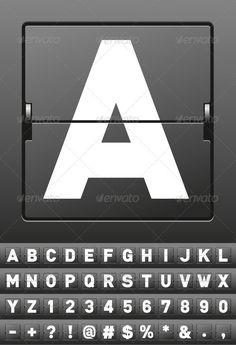 Vector Mechanical Scoreboard Alphabet $4.00