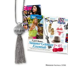 The Morocco necklace is one of my new favorites! Star Magazine's pick too!