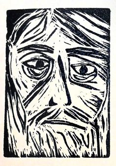 Enoch - linocut print