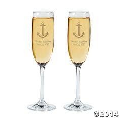 Personalized+Nautical+Wedding+Flutes+-+OrientalTrading.com