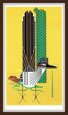 Tall Tail roadrunner collared lizard book print by friendsoutpost