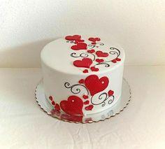 Valentine's cake by Mischell