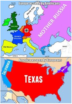 Europe as seen by Americans ~ America as seen by Europeans
