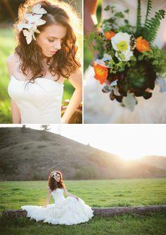 Botanical shoot by Meg Perotti Butterfly Hair, Magnolia, Veil, Flower Girl Dresses, Romantic, Shit Happens, Wedding Dresses, Hair Styles, Pretty