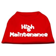 Mirage cat Products 12-Inch High Maintenance Screen Print Shirts for cats, Medium, Red ** See this great image  : Cat sweater