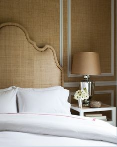 millwork + grasscloth wallpaper by Thom Filicia