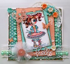 "Card I made using the MY Besties stamp ""Messy Jessy Color""   Sybil Stephens-Brewer"