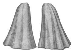 A similar gored skirt from The Delineator, Nov. 1898, pg 559