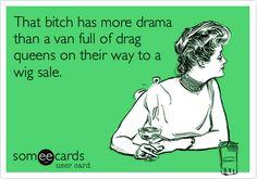A van full of drag queens