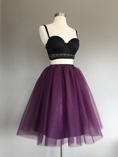 Eggplant tulle skirt purple tutu skirt by Morningstardesignsmi
