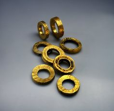 "Eight Gold Circlets  --  Discovered next to bones, in a natural cave, for a burial.  Mined in southern Egypt, this is the oldest gold ""EVER"" found in the land & amongst the oldest in the entire world.  Chalcolithic period  --  4500 BCE  --  The Israel Museum"