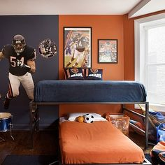 pinterest football bedroom ideas | football bedroom - Google Search