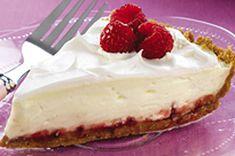 Raspberry-Lemon Pie Recipe - Kraft Canada Great way to use fresh raspberry jam that didn't fit in the jars.  YUMMM