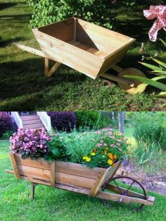 Beautiful vintage garden decorations & ideas: re-purposed planters, up-cycled centerpieces, creative outdoor fountains for your porch, patio & backyard! Rustic Planters, Vintage Planters, Garden Planters, Diy Garden Projects, Outdoor Projects, Outdoor Decor, Garden Ideas, Garden Tips, Patio Fountain