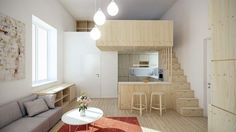 Interior Design For Small Apartments. creative interior design for small apartments, home interior design for small apartments, interior design for small apartm Micro Apartment, Japanese Apartment, Small Apartment Design, Tiny Apartments, Apartment Interior, Apartment Living, Living Room, Apartment Ideas, Parisian Apartment