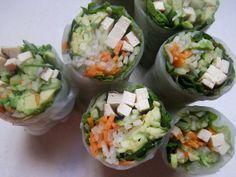rice paper salad rolls--easy, vegan, gluten-free, delicious!