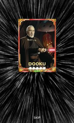Count Dooku - Custom Star Wars: Force Collection Card by Dry Bowser Fan Count Dooku, Counting, Bowser, Star Wars, Fan, Stars, Movie Posters, Collection, Film Poster