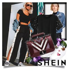"""SHEIN V/4"" by betty-boop23 ❤ liked on Polyvore featuring Sheinside and shein"