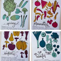 seasonal food illustrations