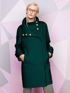 Пальто женское цвет изумрудный, Ворс, артикул 3013970p00042