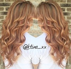 Strawberry Blonde with highlights and lowlights