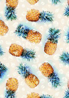 Dress Up Your Tech ♡ Pineapple Wallpaper, Pineapple Art, Pineapple Pattern, Pineapple Express, Tropical Pattern, Pineapple Yellow, Yellow Fruit, Tropical Wallpaper, Beach Wallpaper