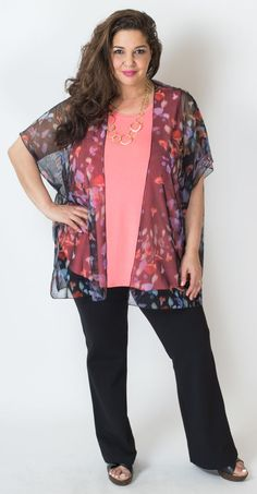 The sheer mesh over the bright coral is just so pretty, isn't it? Plus, they're one size fits all- seriously! Blue Sky Clothing Co