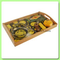 Rolling Tray Gift Set - Smiley Faces