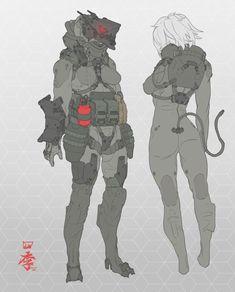 SPC seventh Commision by obokhan on DeviantArt Character Creation, Character Concept, Character Art, Cyberpunk Character, Cyberpunk Art, Arte Ninja, Sci Fi Armor, Robot Concept Art, Futuristic Art