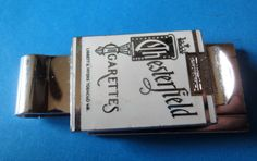 Vintage Doubled Sided Metal Porcelain Chesterfield  Cigarettes Money Clip  #Chesterfield