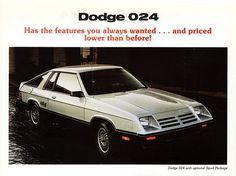 1981-1/2 Dodge 024 Sport Package. My first | http://sportcarsaz.blogspot.com