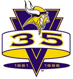 Minnesota Vikings Anniversary Logo (1995) - Minnesota Vikings 35th…