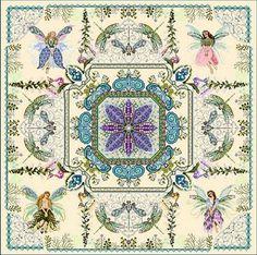 European Cross Stitch - Chatelaine Fairy Flower Garden