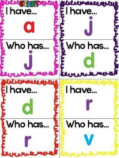 "I Have! A fun ""I Have!"" game that helps children master lowercase letters and sounds. Have fun teaching! The post I Have! – Lowercase Letters appeared first on Crafts. Kindergarten Language Arts, Kindergarten Centers, Preschool Literacy, Preschool Letters, Learning Letters, Kindergarten Reading, Letter Recognition Kindergarten, Letter Recognition Games, Kindergarten Freebies"