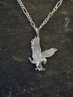 Sterling Silver Eagle Pendant on Sterling Silver by peteconder