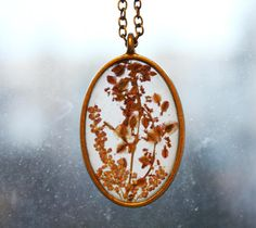 Real flower necklace pressed flower resin terrarium plant necklace handmade glow in the dark necklace handmade gift real flower mozeypictures Choice Image