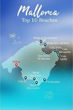 The Top 10 Beaches in Mallorca! Here's the overview. # … – Europa The Top 10 Beaches in Mallorca! Here's the overview. Beach Fun, Beach Trip, Pretty Beach, Beach Travel, Honeymoon Cruise, Honeymoon Destinations, Mallorca Beaches, Mallorca Island, Places In Spain