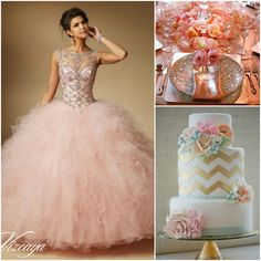 Pink and Orange Color Combo | Quinceanera Ideas |